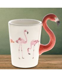 Flamingo shape 3D Ceramic Coffee Mug