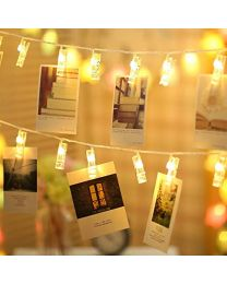 LED Photo Clip String Lights - 20 Photo Clips