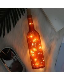 LED Lights in Glass bottle