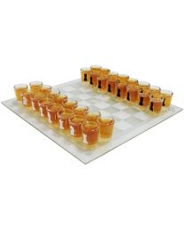 Drinking Chess Set Glass Board Shot Glass Drinking Game Set