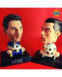 Ronaldo & Messi Bobbleheads + Phone Holders