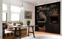 Blackboard Wall Sticker with 5 Colorful Chalks