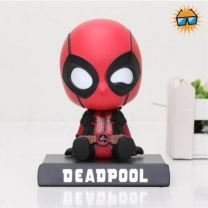 Superhero Bobblehead + Phone Holder (Dead Red)