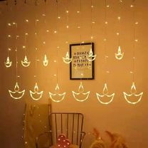Diya Curtain Light