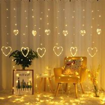 Heart Curtain Light