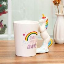 Rainbow Mug 3D with Unicorn Handle