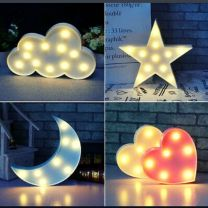 Star Cloud Heart Moon Lamps